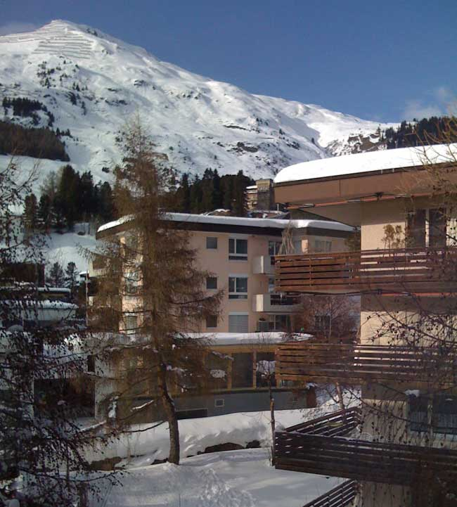 Davos, from the apartment window
